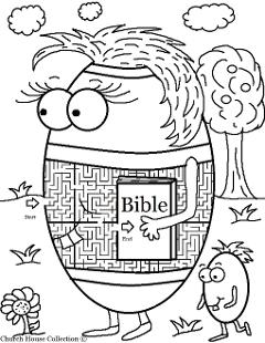 Easter Egg With Bible Maze For Sunday School or Children's Church