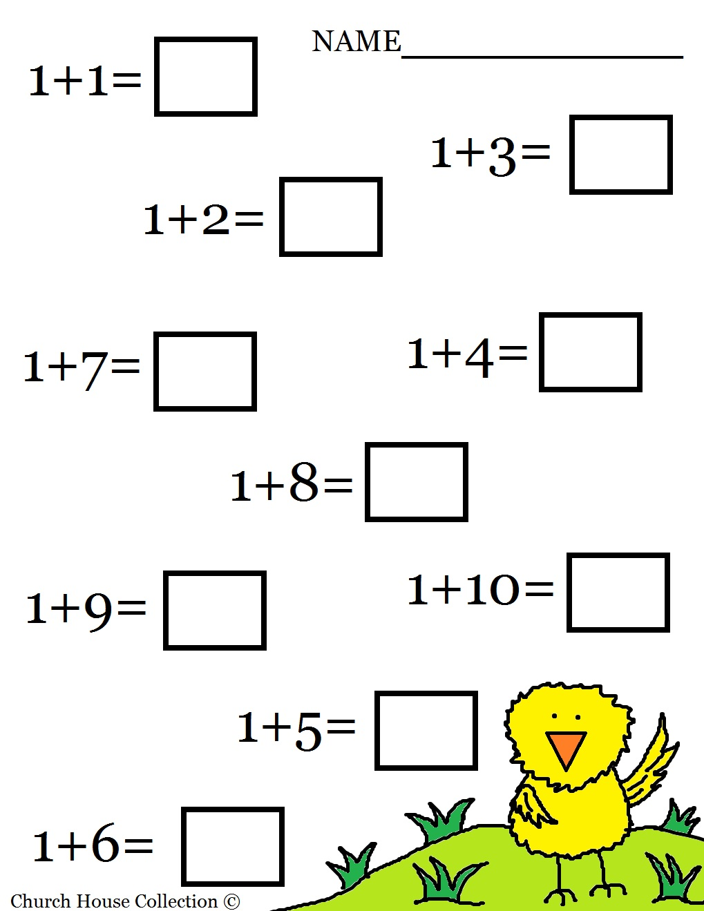Math Worksheet- printable version