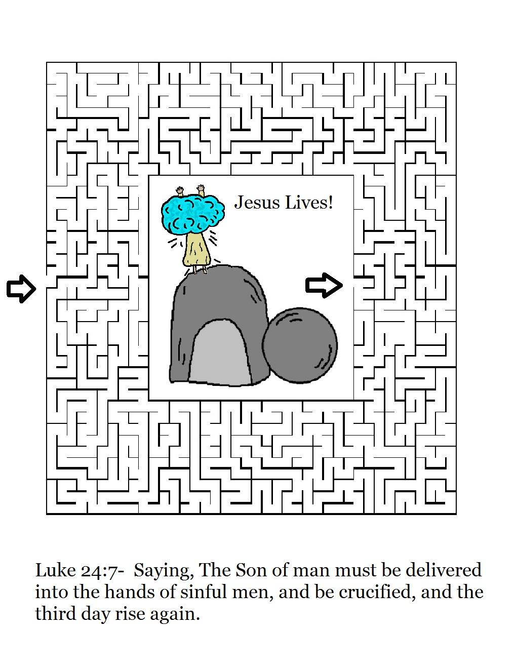 Easter Bible Maze Luisgutierrez For Kids Images
