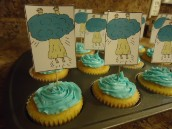 Jesus Acension Cupcakes snack for Kids Sunday school