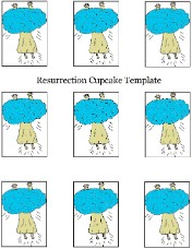 Easter Resurrection Cupcake Toppers Template
