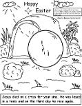 Easter Resurrection Tomb Coloring Page by Church House Collection©