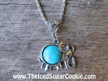 The Iced Sugar Cookie- www.TheIcedSugarCookie.com Turquoise Elephant Jewelry, Earrings, Necklaces, Bracelets, Steampunk, Charms,