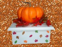 Fall Leaves Cake Stand