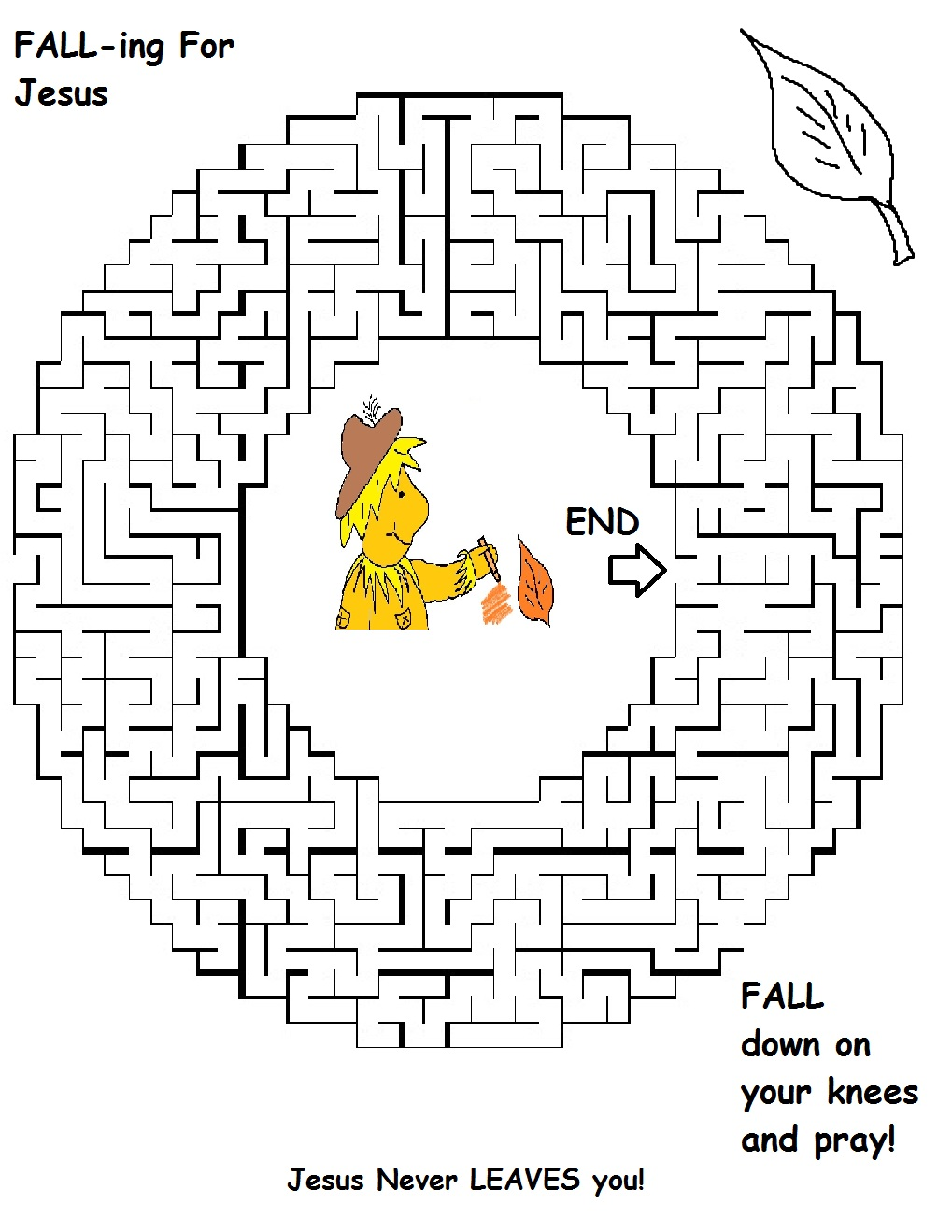 Free Church Maze Coloring Pages