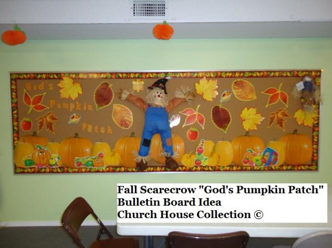 Fall Scarecrow Bulletin Board Idea God's Pumpkin Patch by Church House Collection- Fall Bulletin Board Ideas For Your Classroom