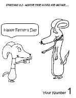 Father's Day Dog Coloring Page