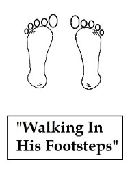 Flip Flop Walking In His Footsteps Sunday School Lesson Plan for Kids in Church by Church House Collection©