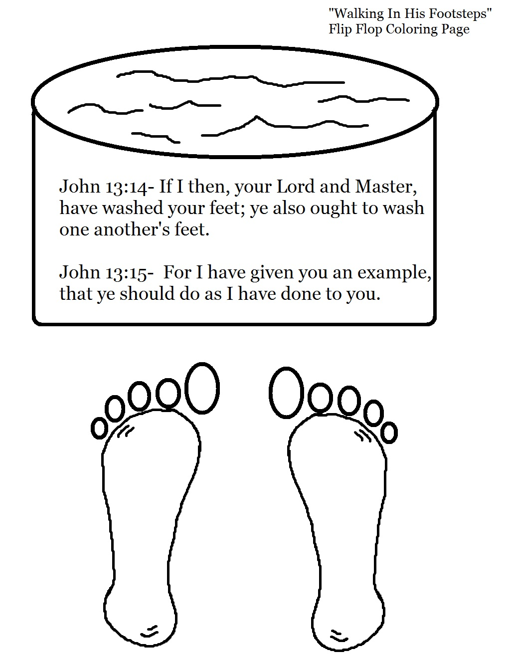 Free Jesus Washing The Disciples Feet Coloring Pages