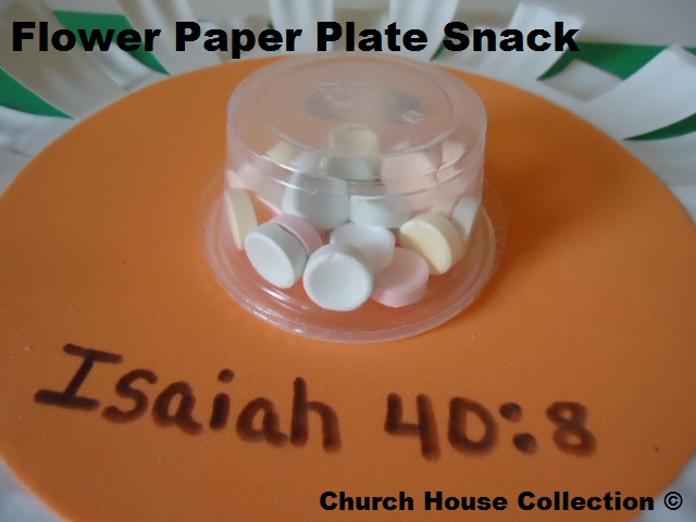 Flower Snacks- Flower paper Plate snacks