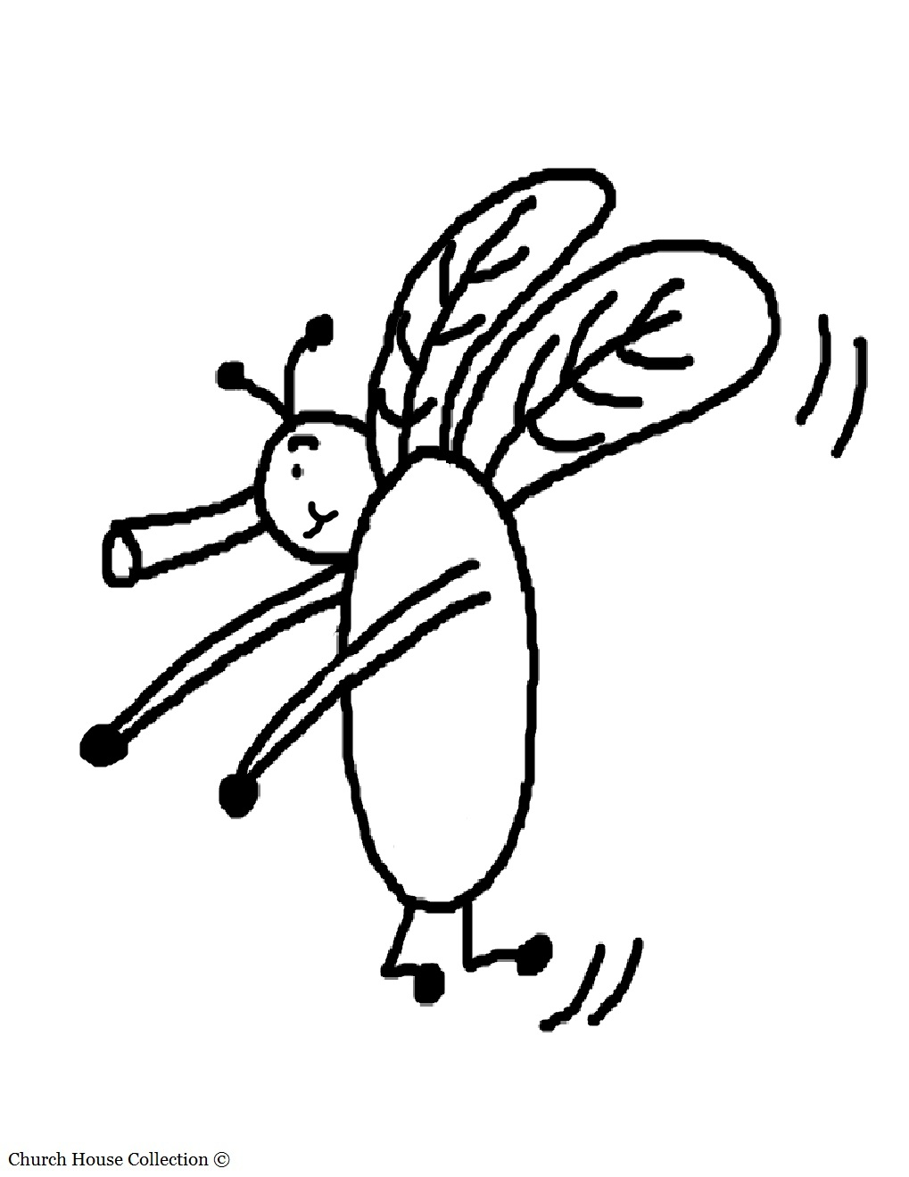Insect Club Coloring Page