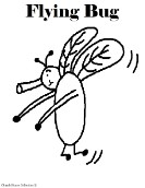 Flying Bug Coloring Page- Animal Coloring Pages for kids