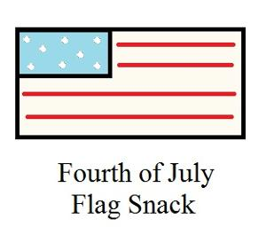 Fourth of July Sunday School Lesson For Kids- Flag Snack for Sunday school