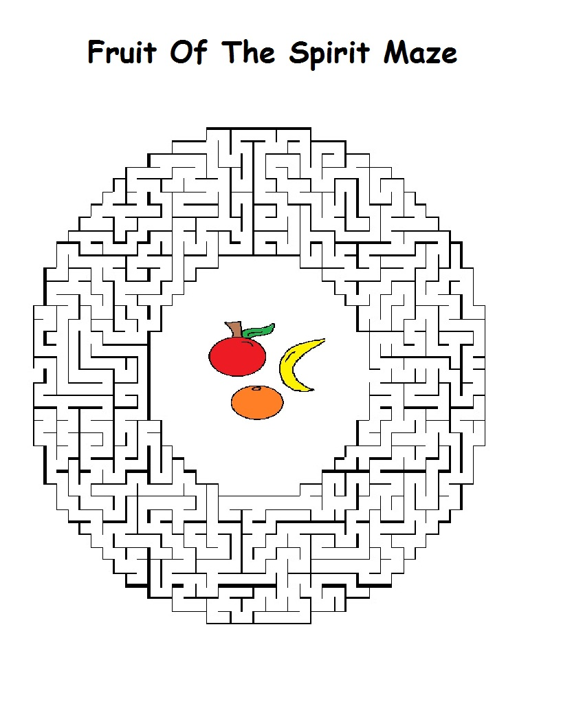 Fruits of the spirit coloring pages