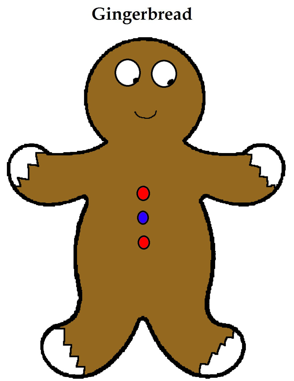 Free Gingerbread Christmas Doorknob Hangers For Kids in Sunday School or Children's Church By Church House Collection- Printable Cutout Template Gingerbread Man