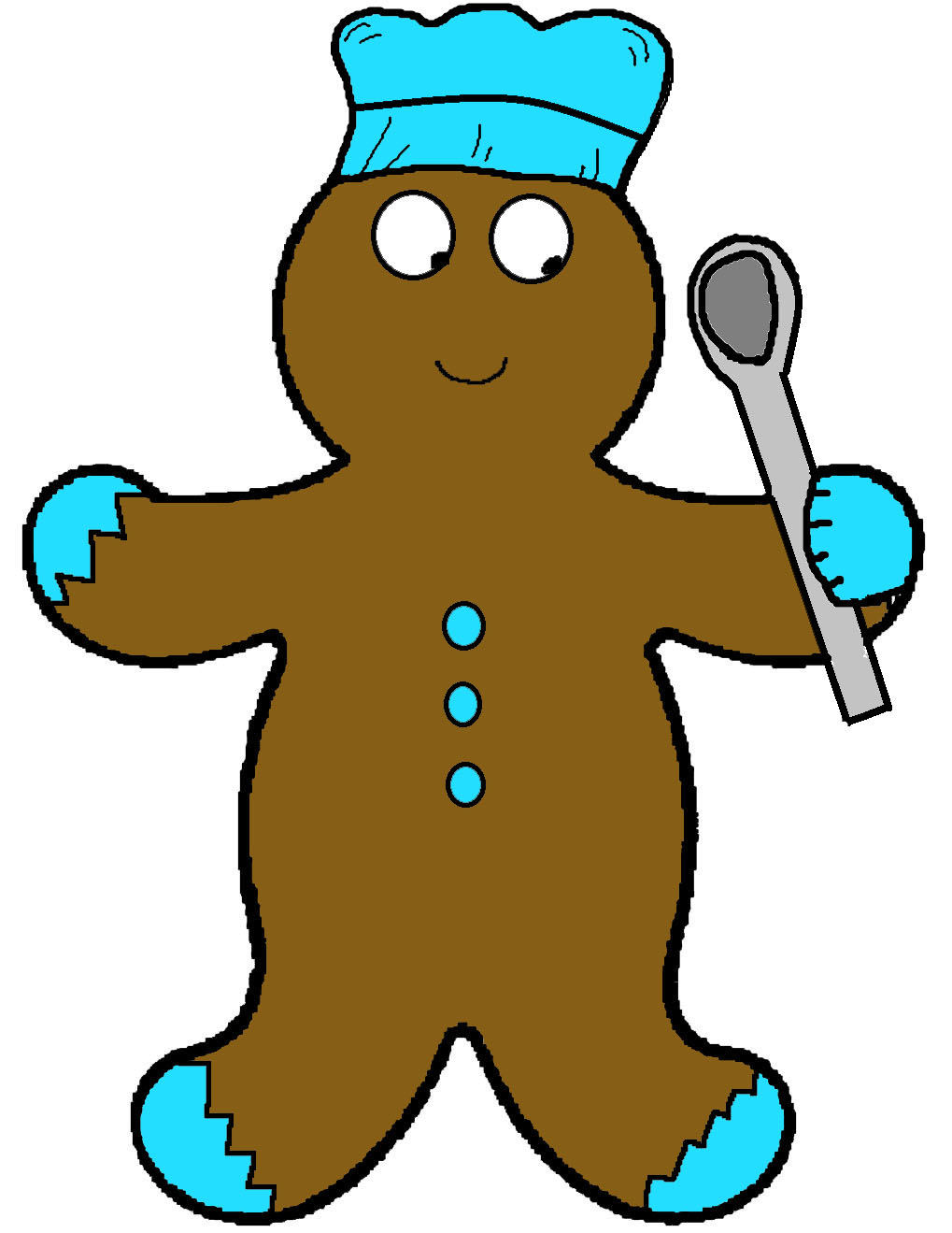 Free Christmas Gingerbread Crafts and Ornaments Such as Cutouts For Kids in Sunday school class by Church House Collection