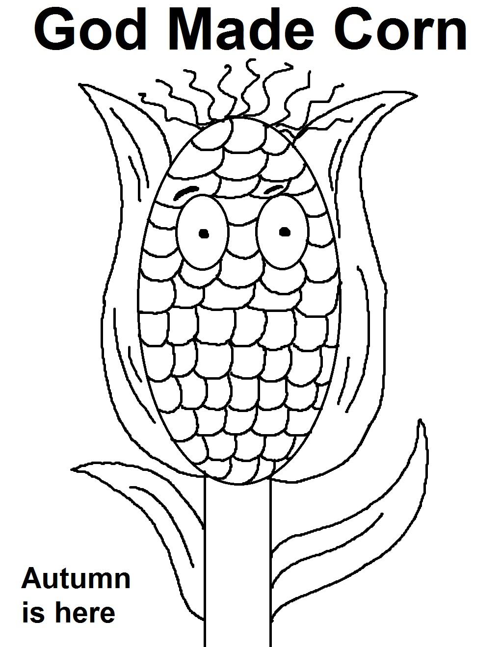 Coloring Pages God Made Me Special Coloring Page corn sunday school lesson god made coloring page