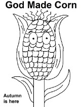 Corn coloring page for Sunday school