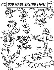 GOd Made Spring Time Coloring Pages