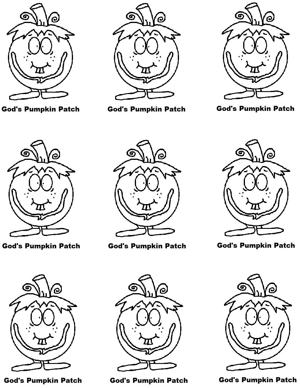 pumpkin patch parable coloring pages - photo #6