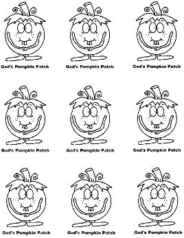 God's Pumpkin Patch Printable Stickers Magnets Cupcake Toppers