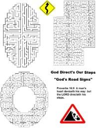 God's Road Signs  Maze