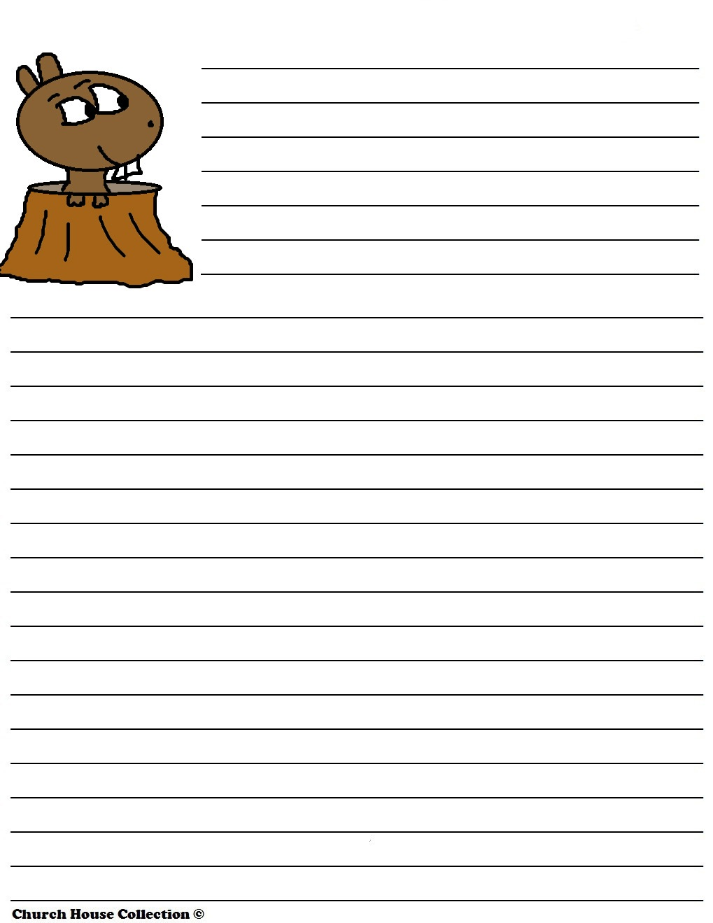 Groundhog Writing Paper