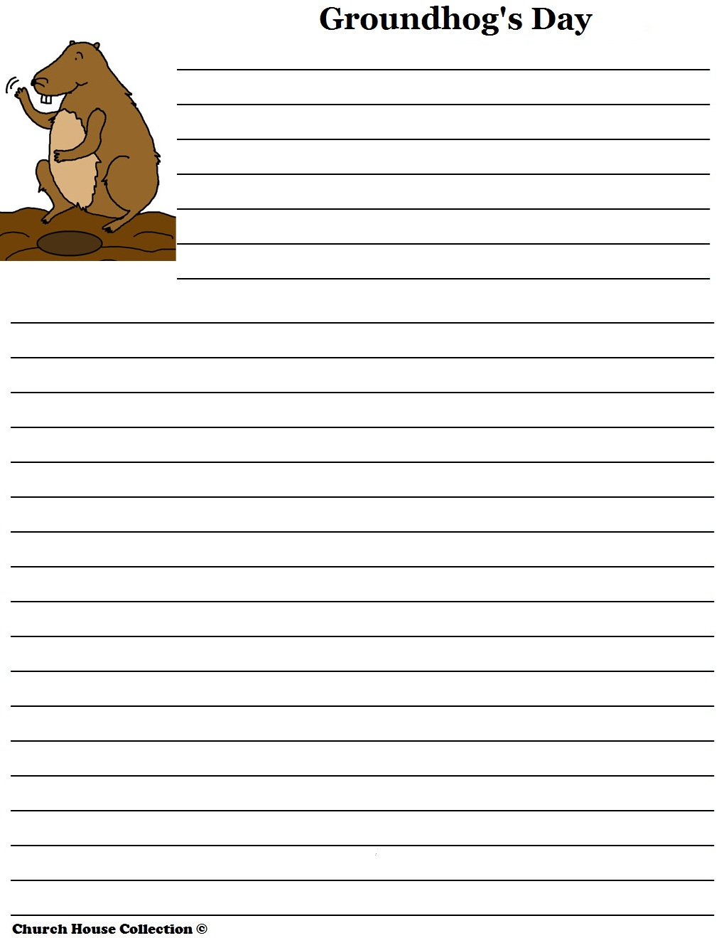 To download this freebie go to: Groundhog Day Writing Activities