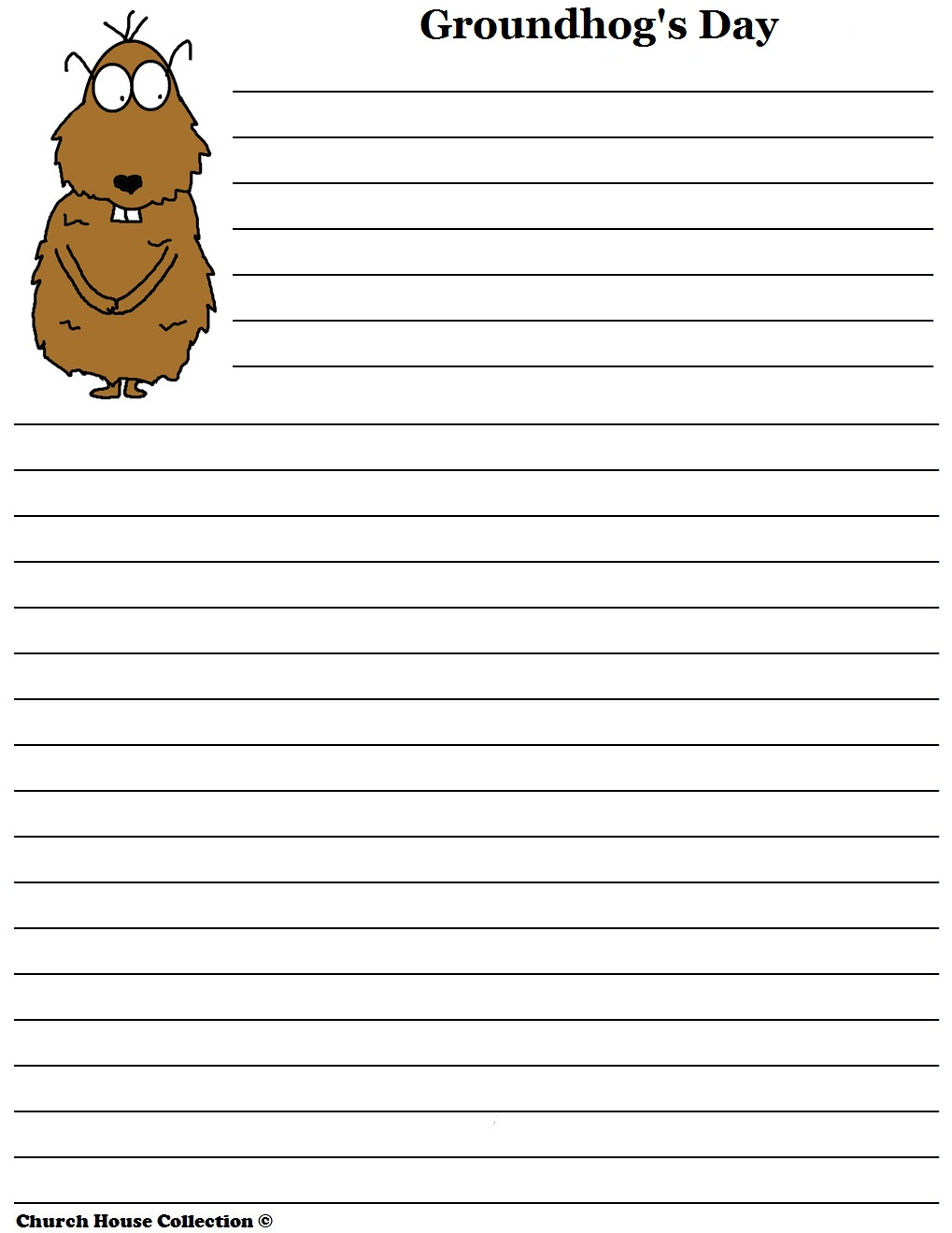 groundhog day writing paper Groundhog cut and paste paper craft with predictions worksheet or writing paper.