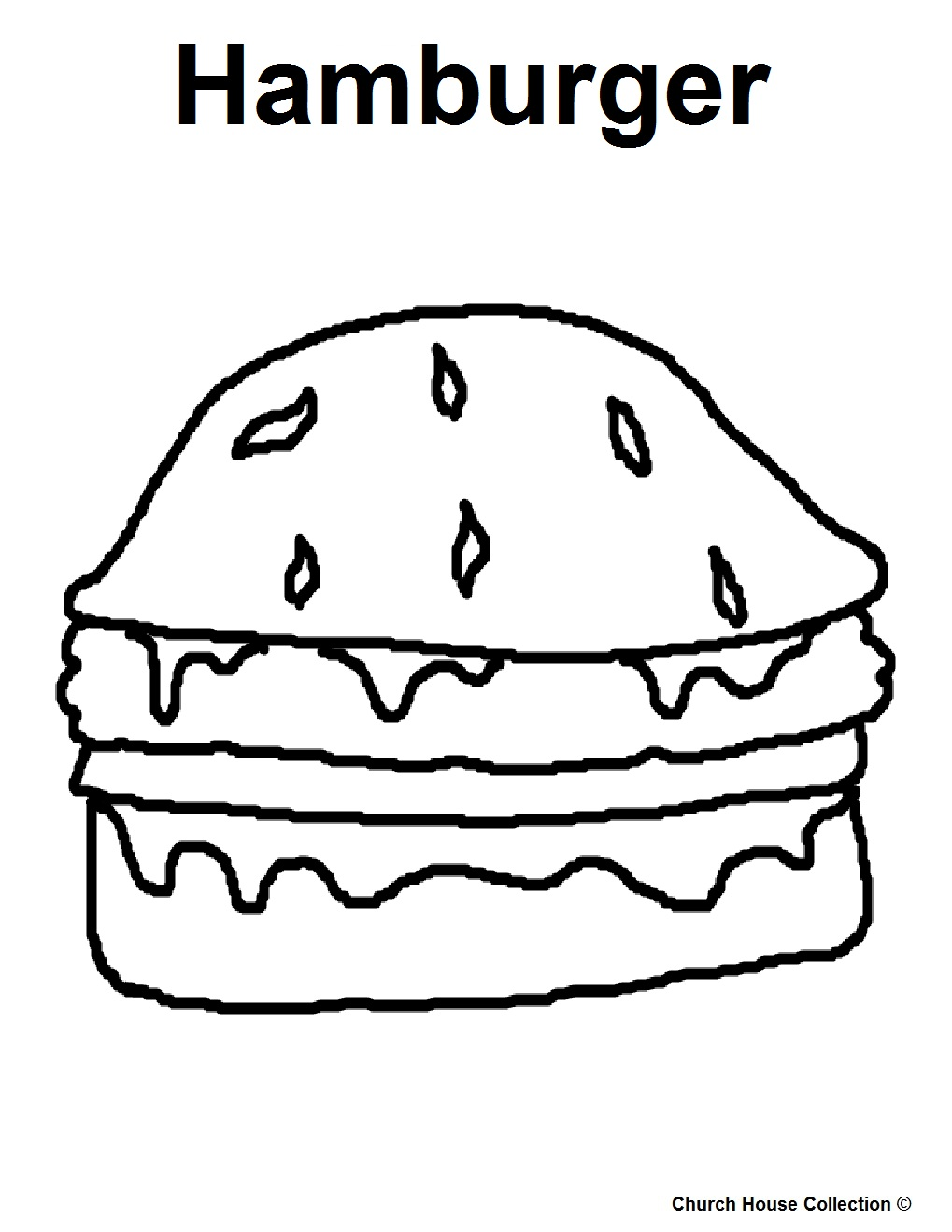 hamburger bun coloring page - photo #11
