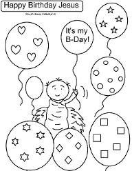Happy Birthday Baby Jesus Coloring Pages