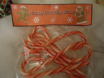 Happy Birthday Jesus Snack For kids Gingerbread Candy Cane Template