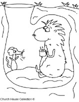 Happy Groundhog's Day Coloring Pages