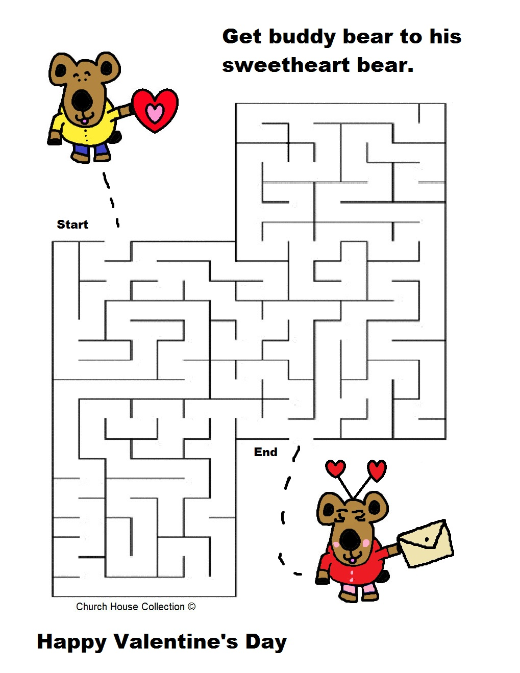 Valentine s day maze for school