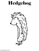 Hedgehog Coloring Pages- Animal Coloring Pages For Kids