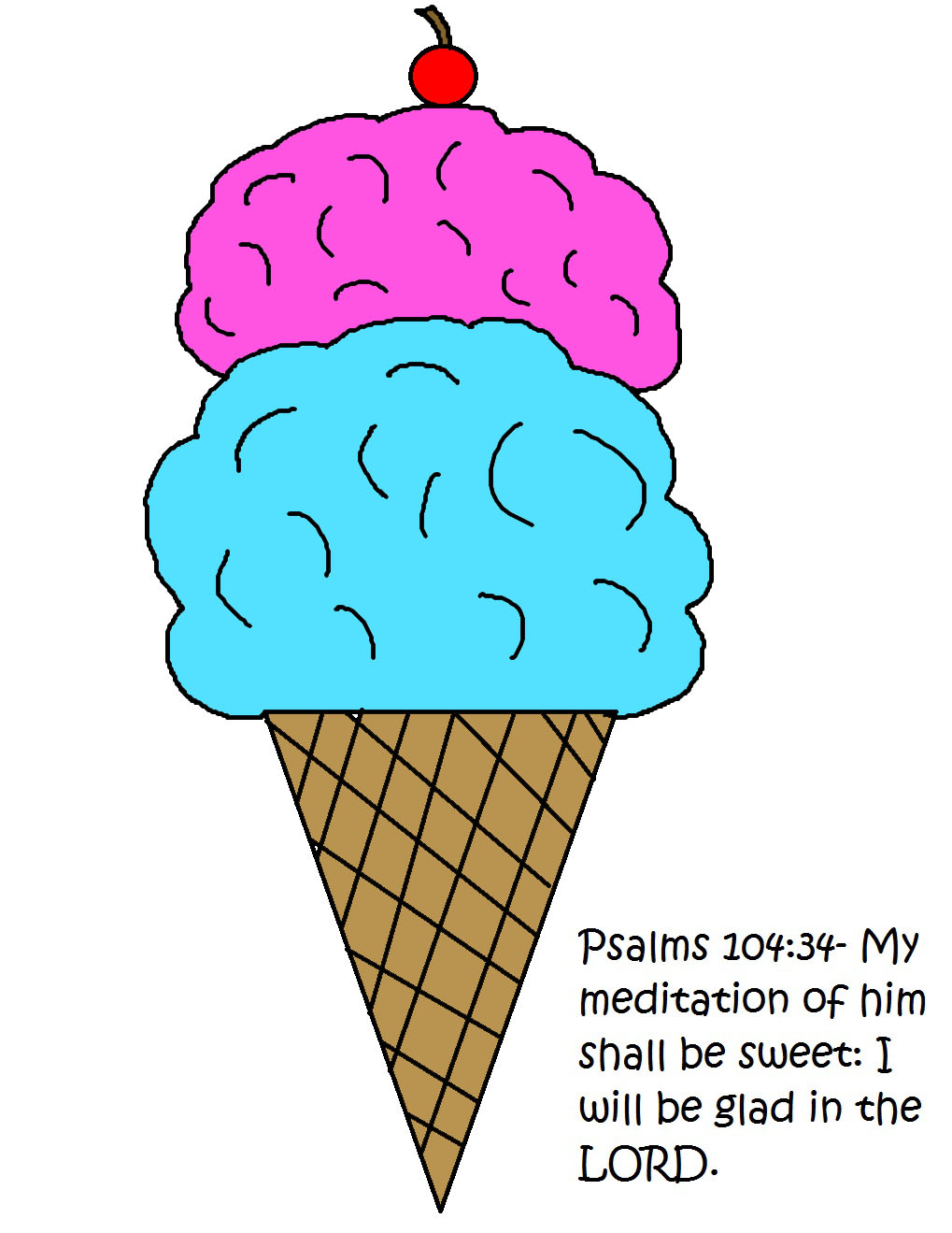 This is a picture of Sly Ice Cream Cone Printable