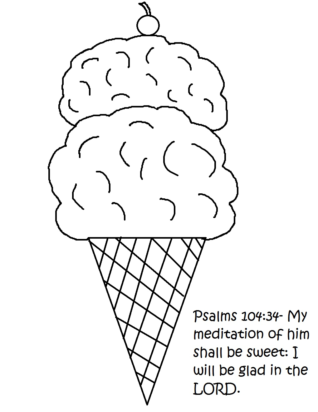 Ice Cream Cone Sunday School Lesson