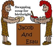Free Jacob and Esau Sunday school lessons for kids or preschoolers