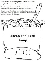 Free jacob and esau sunday school lesson for kids for Esau and jacob coloring pages