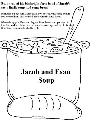esaus birthright coloring pages - photo#15