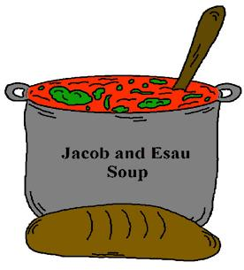 Jacob and Esau Soup Clipart for Sunday School