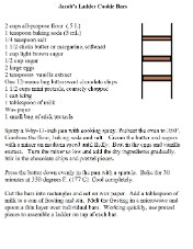 jacob's ladder Cookie bar recipe print out