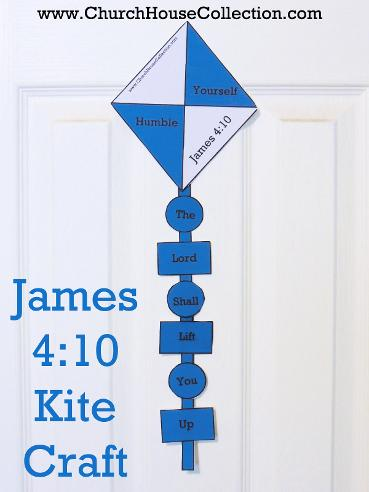 James 4:10 Kite Cutout Craft For Sunday School Childrens Church By Church House Collection Humble Yourself and the Lord will lift you up