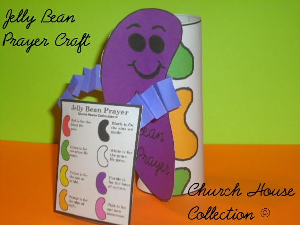 Jelly Bean Prayer Toilet Paper Roll Easter Craft