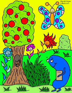 Jelly Bean With Bible Spring Coloring Page By Church House Collection©
