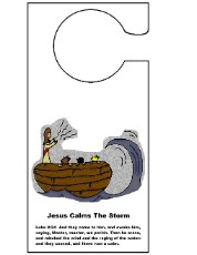 Jesus Calms The Storm Doorknob Hanger Craft