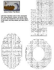 Jesus Calms The Storm Free Printable Maze for Kids in Sunday School by Church House Collection©