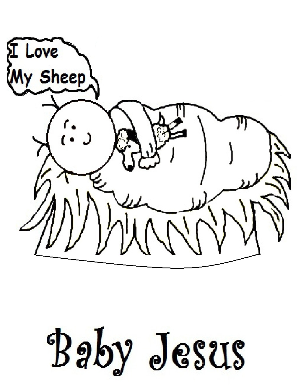 coloring pages of baby jesus - photo#22
