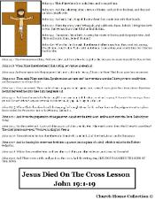 Jesus died on a cross sunday school lesson