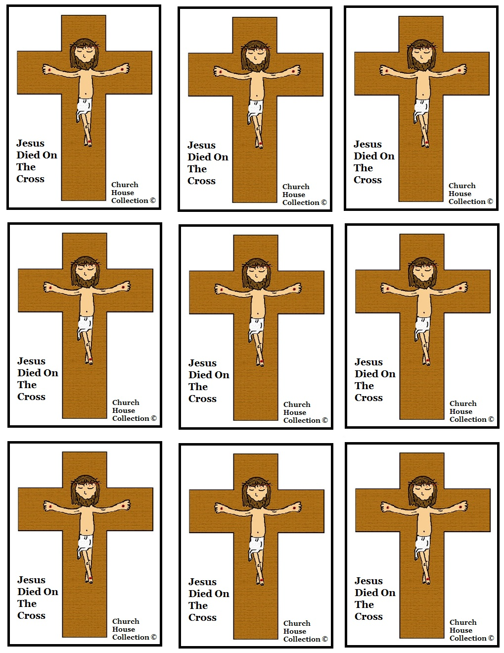 Jesus Died On The Cross Cupcake Toppers